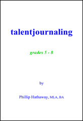 Talent Journaling Grades 5th - 8th